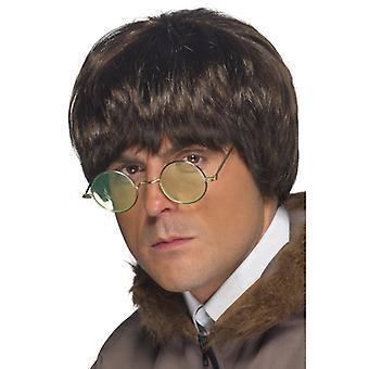Britpop 90s wig Liam pulp UK men's wig Brown