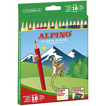 Alpino Estuche 18 Lápices Colores  (Toys , School Zone , Drawing And Color)