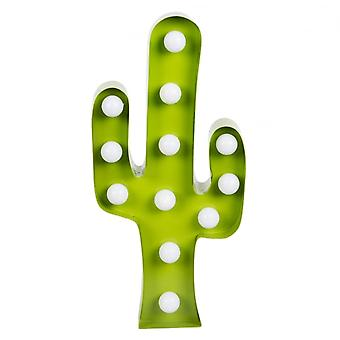 Sass and Belle Cactus LED Light Wall Decoration Green