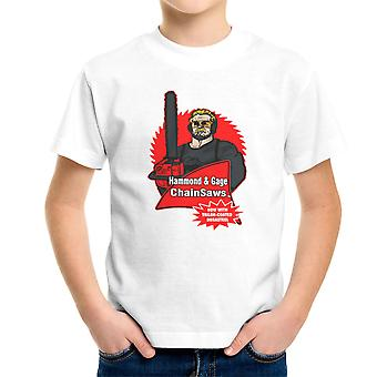 Hammond and Gage Chainsaws Buzzsaw Running Man Kid's T-Shirt