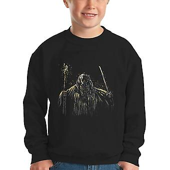 Flame Of Udun Gangdalf Lord Of The Rings Kid's Sweatshirt