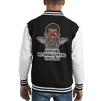 Lil Falcon iedereen Kid's Varsity Jacket