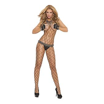 Elegante momenti EM-1622 Diamond bodystocking netta anche in taglie forti