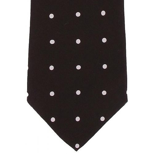 Michelsons of London Silk Polka Dot Tie - Burgundy