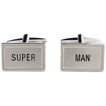 Zennor Super Cufflinks - Silver/Black