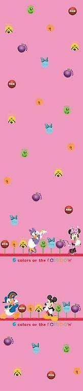 Guardería Disney Minnie y amigos rosa cortina de Voile