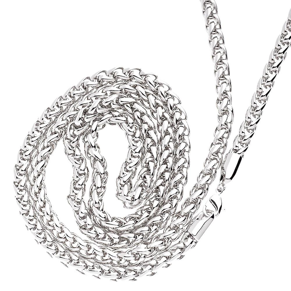 Iced Out Bling BASKET Kette - 6.5mm silber