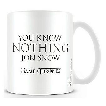 Game Of Thrones Official You Know Nothing Mug