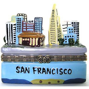 City of San Francisco California byen Vis hengslet Trinket Box phb
