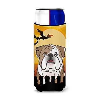 Halloween English Bulldog  Ultra Beverage Insulators for slim cans