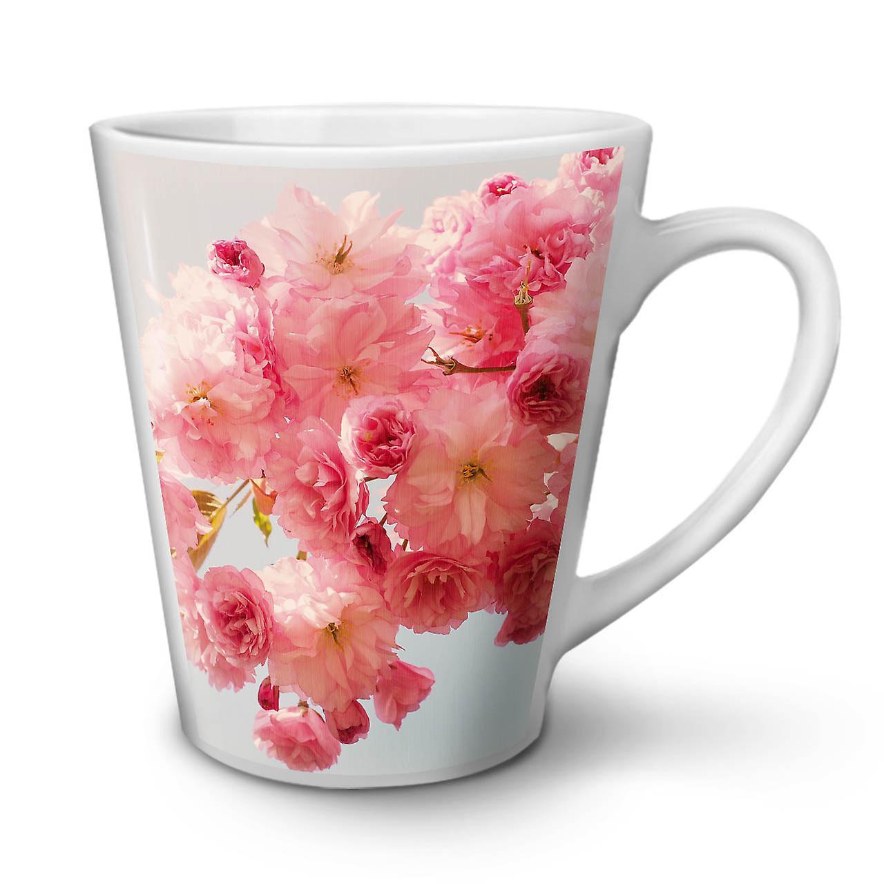 Nouveau En Vie OzWellcoda Latte 12 Blanc Peone Mug Thé Céramique Café Rose fymIY76vbg