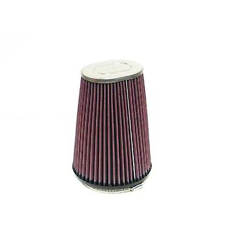 K&N RF-1021 Universal Clamp-On Air Filter: Oval Straight; 4.5 in (114 mm) Flange ID; 8 in (203 mm) Height; 5.87 in (149