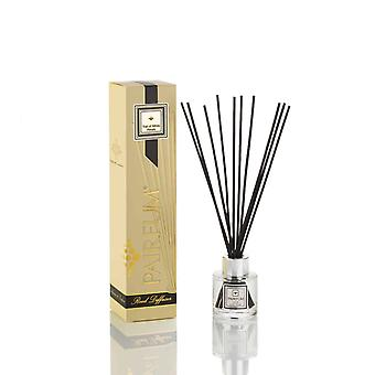 Natural Reed Diffuser - Long-lasting & Healthy - Beautiful Perfumes that Compliment You - Fragrances for 2 - 3 months (50 ml) - by PAIRFUM - Perfume: Trail of White Petals - with Black Reeds