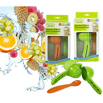 Squeeze & Serve Baby Food Press Feeding Spoon Fresh Healthy Food Puree BPA free