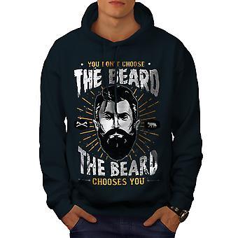 Non scegliere barba Men NavyHoodie | Wellcoda