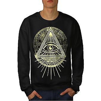 Triangle Triangle Men BlackSweatshirt | Wellcoda