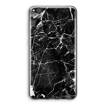 Huawei Ascend P8 Lite (2017) Transparant Case (Soft) - Black Marble 2