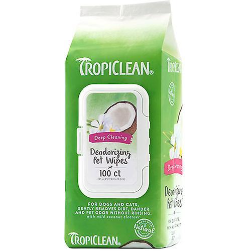Tropiclean Deep Cleaning Deodorizing Pet Wipes