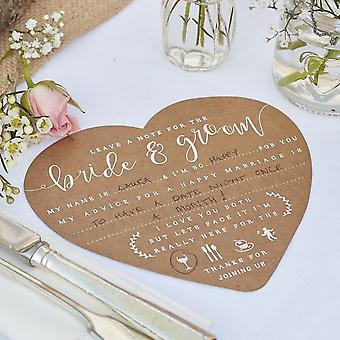 ADVICE FOR THE BRIDE AND GROOM CARDS - RUSTIC COUNTRY