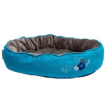Rogz Cat Snug Pod Cool Blue Floral Medium