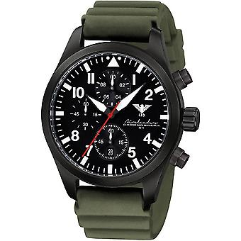 KHS Herrenuhr Airleader black steel chronograph KHS. AIRBSC. DO