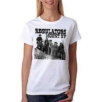 Young Guns Mount Up kvinder hvid T-shirt