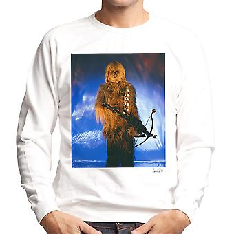 Star Wars Behind The Scenes Chewbacca White Men's Sweatshirt