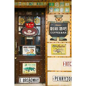 Amerikanischen Starbucks Café Zhongyang Dajie Daoliqu russischen Erbe Bereich Harbin Tuwas Provinz China Poster Print von Panorama-Aufnahmen (24 x 36)