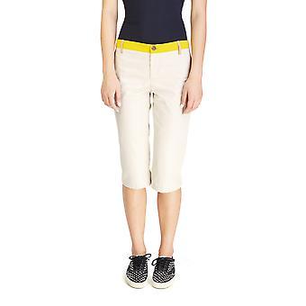 Miu Miu Women's Cotton Capri Pants Taupe
