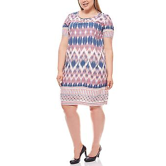 CISO ethno knee-length dress plus size colorful