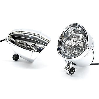 Krator Custom Chrome Passing Fog Auxiliary Light For Victory Cross Country