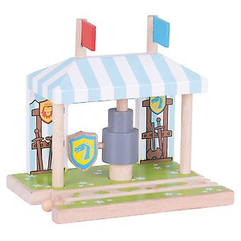 Bigjigs Rail Wooden Knights Training Grounds - Wooden Train Set Accessories