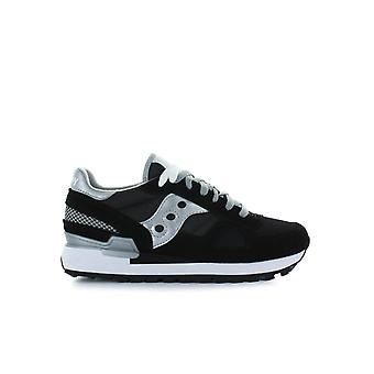 SAUCONY ORIGINALS SHADOW BLACK/SILVER SNEAKER
