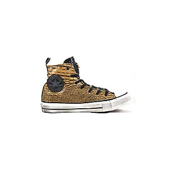 CONVERSE Limited Ed. ALL STAR HI PREMIUM  BROWN SNAKE SNEAKERS