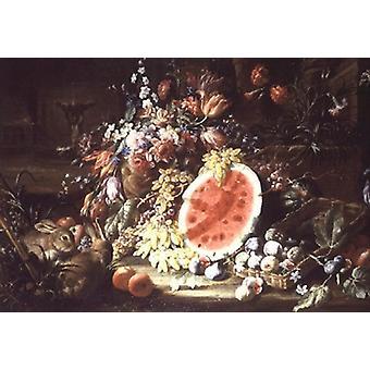 Still Life of Fruit by Aniello Ascione - Art Canvas