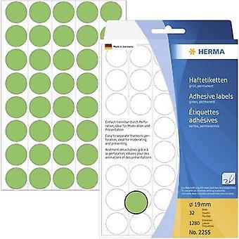 Herma 2255 Labels Ø 19 mm Paper Green