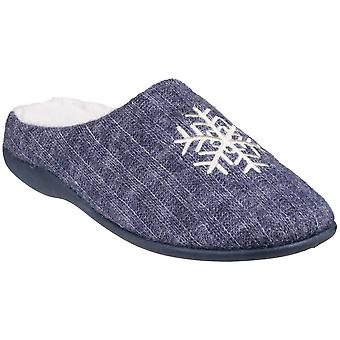 Fleet & Foster Womens Metz Mule Soft Knitted Comfy Slippers