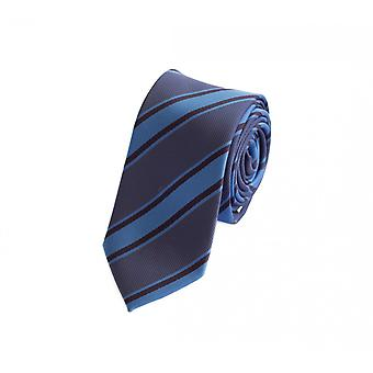 Stropdas tie stropdas tie 6cm donkerblauw en MIttelblau Fabio Farini gestreept