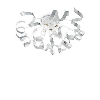 Ideal Lux Vortex Semi Flush Decke Kronleuchter Band Licht, Gold Gold & weiß