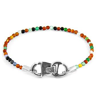 Anchor & Crew Multicoloured Agate CUSTOM Bracelet Stone and Silver Line
