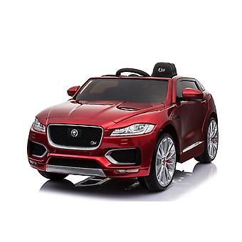 Licensed Jaguar F Pace 12V Kids Electric Ride On Car Red