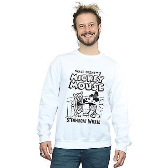 Disney Herren Mickey Mouse Steamboat Willie Sweatshirt
