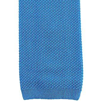 KJ Beckett Plain Cotton Tie - Turquoise