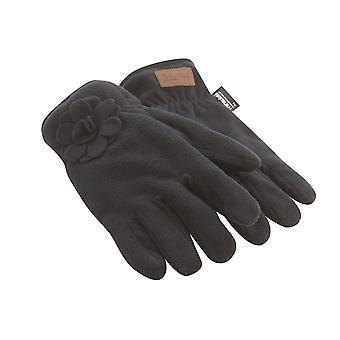 Jack Murphy Mens Hickstead Fleece Gloves Warm Flower Detailing
