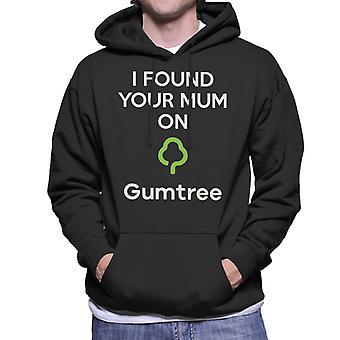 Encontré a tu madre en sudadera con capucha Gumtree hombres