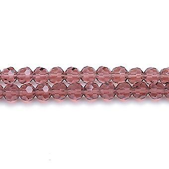 Strand 70 + 6mm matowa Magenta czeski kryształ szkło szlifowane koraliki okrągłe GC3556-2