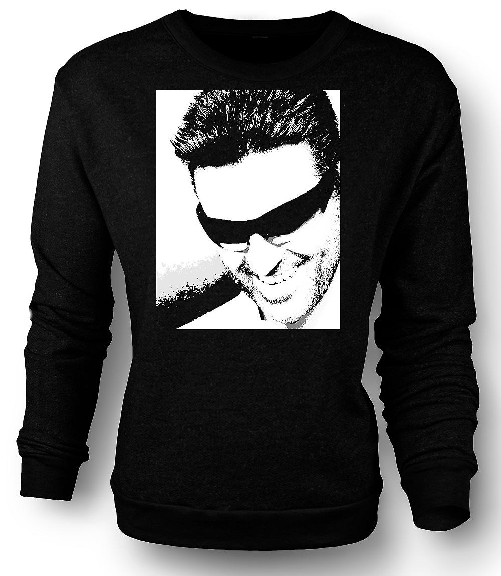 Mens Sweatshirt George Michael - Pop Art - porträtt