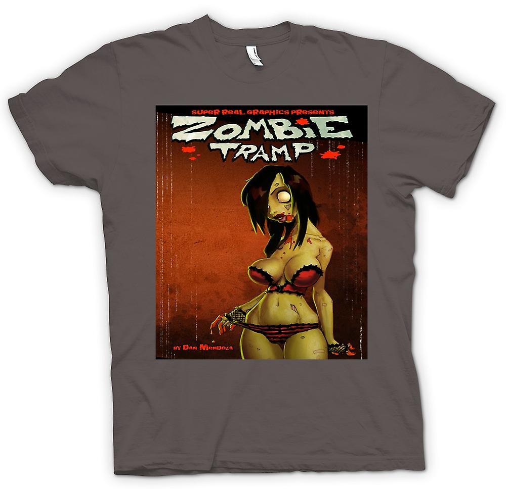 Womens T-shirt - Zombie-Tramp - Untoten - Pin-Up