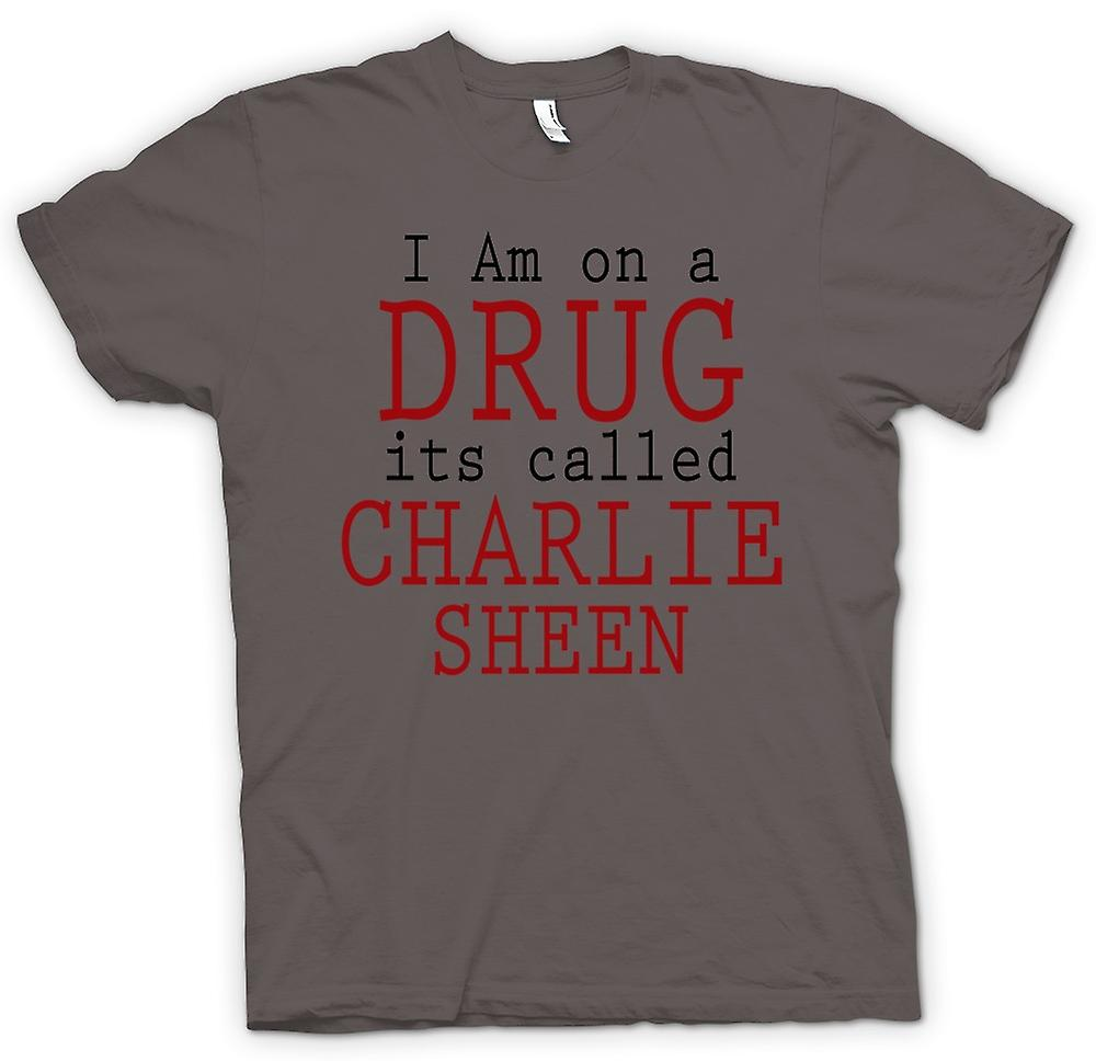 Womens T-shirt - I Am On A Drug Its Called Charlie Sheen - Funny