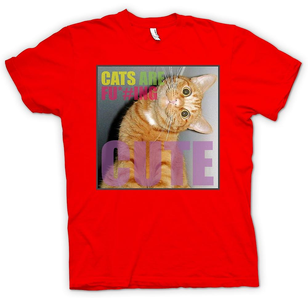 Mens T-shirt-chats sont F * cking Cute